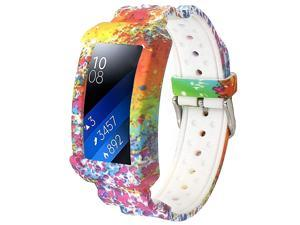 for Gear Fit 2 Bands Gear Fit2 Pro Band Silicone Strap Compatible with Samsung Gear Fit 2 Pro SM-R365/Gear Fit2 SM-R360 Smartwatch Fitness Wristband with Frame Accessories (Colorful)
