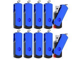 4GB USB 20 Flash Drive Bulk Thumb Drives 4gig with Led Indicator Multipack Rotatable Jump Drive for Computer Backup Storage Zip Drives Memory Stick BlueUnbranded