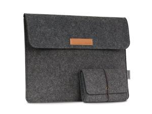 12 Inch Laptop Felt Sleeve Bag Protective Case Cover Fit Microsoft Surface Pro 7Pro 6Pro 5Pro 4Pro 3Pro LTE 123MacBook Air 116iPad Pro 129 Inch 2018 with Small Felt Bag Dark Gray