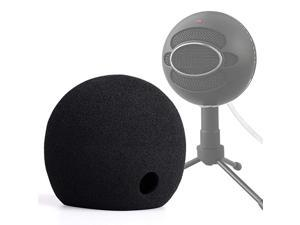 Blue Snowball Pop Filter Foam Cover Blue Snowball Cover Microphone Windscreen Compatible with Blue Snowball Ice Microphone Black
