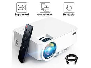 Mini Projector 3600L  Smartphone Portable Video Projector 1080P Supported 176quot Display 50000 Hours Led Compatible with TV StickHDMIVGAUSBTV BoxLaptopDVDPS4 for Home Entertainment