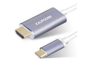 USB C to HDMI Cable USB Type C to HDMI Adapter Compatible with Samsung Galaxy S8 S9 S10 S20 Note9 MacBook iMac Chromebook Media with 4k30HzThunderbolt 3 Dual Displays Support Gray