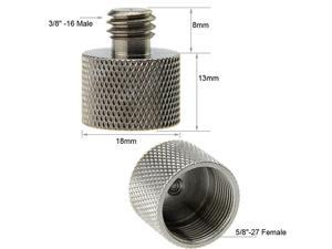 """2 Pieces 3/8""""-16 Male to 5/8""""-27 Female Thread Adapter for Microphone Mounts and Stands"""
