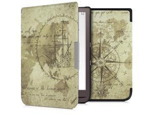 Case Compatible with Pocketbook InkPad 33 Pro PU eReader Cover Travel Vintage BrownLight Brown
