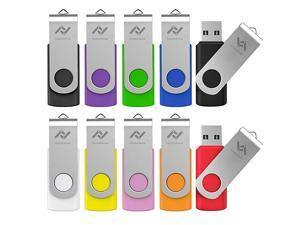 32GB Flash Drives Bulk 10 Pack USB 20 32 GB Thumb Drive Jump Drive Pen Drive Memory Drive Zip Drive with LED Light for Storage by  10PackMulticoloured