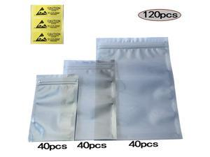 Antistatic BagsPremium ESD Bags120pcs Mixed Sizes Anti Static Resealable Bags for 35 Hard Drive 25 Solid State Drive with Labels ESD Shielding Bags for Varieties of Electronic Device