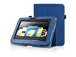 Kindle Fire HD 7 2012 Version Case  Kindle Fire HD7 2012 Previous Model Case PU Leather Cover Case for Kindle Fire HD 72012 Version with Auto Sleep Wake Function Dark Blue