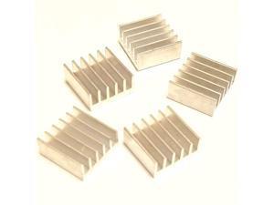 10pcs 15mm Heatsink 15x15x65mm + pre Applied 3M 8810 Thermal Conductive Adhesive Tape for Cooling Cooler GPU Chips VRAM VGA RAM 10pcs 15x15x66mm Silver