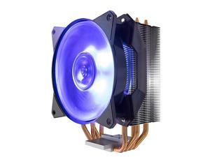 MasterAir MA410P RGB CPU Air w 4 Continuous Direct Contact 20 Heatpipes Aluminum Fins MF120R 120mm RGB Fan Intel LGA1151 AMD AM4Ryzen