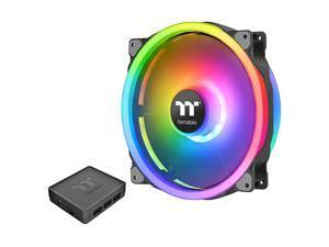 Riing Trio 200mm 168 Million RGB Color Alexa Razer Chroma Software Enabled 3 Light Rings 60 Addressable LED 11 Blades Hydraulic Bearing CaseRadiator Fan Single Pack CLF083PL20SWA