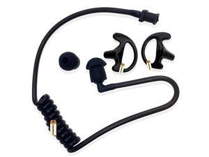 Replacement Acoustic Tube with Earbud Compatible for Motorola Kenwood Midland Two Way Radio  Replacement Coil Tube Black +2 Way Radio Open Ear Insert Earmold Ear Bud Ear Piece Small Black