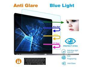 Pack AntiBlueLight Anti Glare Screen Protector Fit MacBook Pro 13 016019 A1706 A1708 A1989 with Touch Bar with Gift Keyboard Cover Eyes Protection Filter Reduces Eye Strain