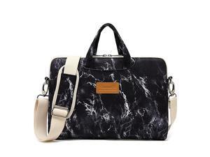 Black Marble Pattern Waterproof Laptop Shoulder Messenger Bag Case Sleeve for 12 inch 13 inch Laptop and 111213