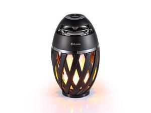 Led flame table lamp Torch atmosphere Bluetooth speakersOutdoor Portable Stereo Speaker with HD Audio and Enhanced BassLED flickers warm yellow lights BT42 for iPhoneiPad Android