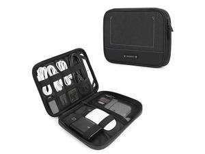 Electronic Organizer Travel Cable Organizer Electronics Accessories Cases for 79 iPad Mini Cables Chargers USB SD Card