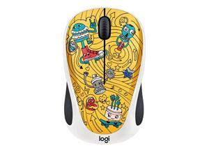 Doodle Collection M238 Mouse Optical Wireless 3 Buttons GoGo Gold