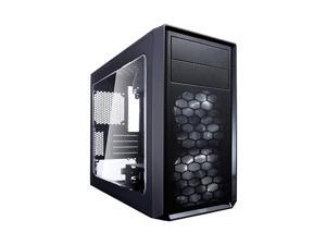 Focus Mini G - Mini Tower Computer Case - mATX - High Airflow - 2X  Silent LL Series 120mm White LED Fans Included - USB 3.0 - Window Side Panel - Black