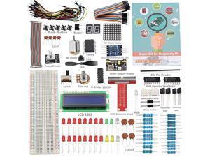 Raspberry Pi 4 Model B Starter Kit Project Super Kit for RPi 4B 3B+ 3B 2B B+ A+ Zero Including GPIO Breakout Board Breadboard LCD DC Motor LED RGB Dot Matrix 73 Page Manual User Guide