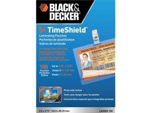 Decker TimeShield Thermal Laminating Pouches ID Badge with Clips 5 mil 100 Pack of Horizontal Badges LAMID5100
