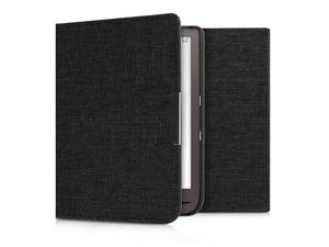 Case Compatible with Pocketbook InkPad 33 Pro Book Style Fabric eReader Cover Flip Folio Case Dark Grey