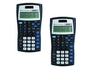 Instruments TI30X IIS 2Line Scientific Calculator Black with Blue Accents 2 Pack