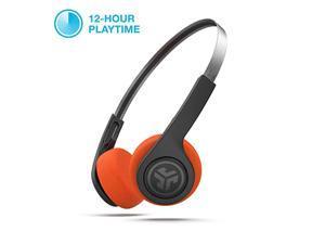 Audio Rewind Wireless Retro Headphones | Bluetooth 42 | 12 Hours Playtime | Custom EQ3 Sound | Music Controls | Noise Isolation | with Microphone | Throwback 80s 90s Design | Black