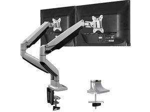 Dual Monitor Mount Stand Aluminum Gas Spring Monitor Arm Desk Mount Full Motion Adjustable VESA Bracket for 2 13 to 32 Inch Computer Screen with Clamp Grommet Base