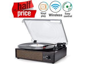 Player Turntable Wireless Portable LP Phonograph with Built in Stereo Speakers 3Speed BeltDrive Turntable Vinyl Player with Speakers