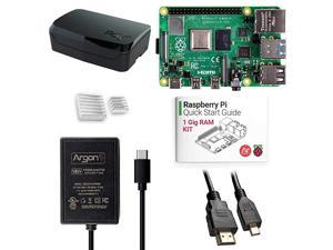 x Raspberry Pi 4 Kit 1 Gig   Poly+ Raspberry Pi 4 Case   Includes Micro HDMI to HDMI Cable TypeC Power Supply and Quick Start Guide for Raspberry Pi 4