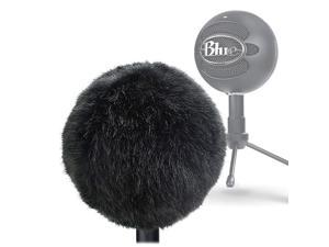 Furry Windscreen Muff Customized Pop Filter for Microphone Deadcat Windshield Wind Cover for Improve Blue Snowball iCE Mic Audio Quality Black