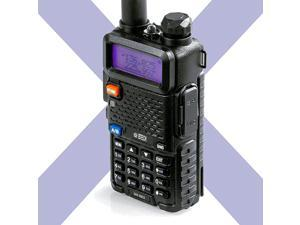 UV5X3 5 Watt TriBand Radio VHF 125M UHF Amateur Ham Includes Dual Band Antenna 220 Antenna Earpiece Charger and More TwoWay Radio