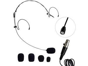 HM10 Headworn Omnidirectional Microphone Lightweight HandsFree Microphone use for Singers Aerobics Instructors Teachers etc MiniXLR Connection Black Color