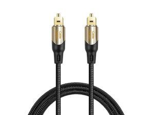 Xbox /& More Sound bar TV Nylon Braided Jacket,Durable and Flexible EMK Fiber Optic Cord for Home Theater PS4 Digital Optical Audio Cable Toslink Cable - 6Ft//1.8M
