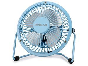 Mini USB Desk Fan USB Powered Metal Design Quiet Operation 39 ft USB Cord Handheld Size Power Saving Personal Table Fan for Home and OfficeBlue