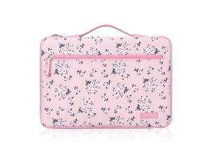 14156 Premium Leather Laptop Sleeve Case Cover Bag for 15 MacBook Pro 2018 2017 2016 Ultrabook Notebook Carrying Case Bag for 14156 ASUS Acer Lenovo Dell HP Toshiba Chromebook Pink