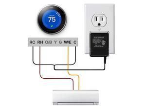 24V Thermostat Transformer AC 24V CWire Power Supply Adapter for HoneywellNestEmerson Sensi WiFi Smart Thermostat Ecobee3 Ecobee4 ThermostatUL Certified 164ft5m