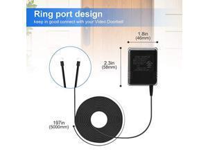 Power Adapter Compatible with Google Nest Doorbell SimpliSafe eufy and Arlo Video Doorbell 18V Doorbell Transformer 164ft5m Black