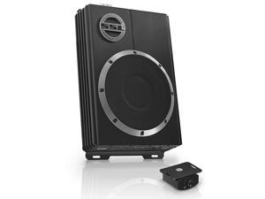 LOPRO8 Amplified Car Subwoofer - 600 Watts Max Power, Low Profile, 8 Inch Subwoofer, Remote Subwoofer Control, Great For Vehicles That Need Bass But Have Limited Space, Black