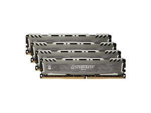 Ballistix Sport LT 2666 MHz DDR4 DRAM Desktop Gaming Memory Kit 16GB (4GBx4) CL16 BLS4K4G4D26BFSB (Gray)