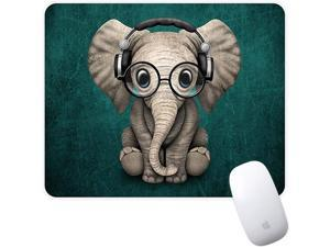Mouse Pad Green Pattern Headset Music Panda Mousepad NonSlip Rubber Gaming Mouse Pad Rectangle Mouse Pads for Computers Laptop