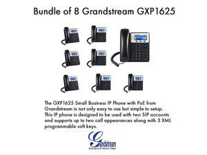 Grandstream GXP1625 2 SIP acct SMB IP Phone Multilanguage PoE Bundle of 8