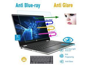 Pack AntiBlueLight Anti Glare Screen Protector Fit 14 HP Pavilion X360 14BA Series with Gift Keyboard Cover Eyes Protection Filter Reduces Eye Strain Help You Sleep Better