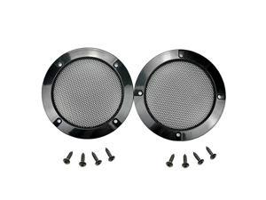 2PCS 8 Inch Car Speaker Grill Cover Guard Protector with Black Metal Mesh Speaker Decorative Circle 8 Screws Included 8 Inch