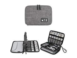 Organizer Jelly Comb Electronic Accessories Cable Organizer Bag Waterproof Travel Cable Storage Bag for Charging Cable Cellphone Mini Tablet Up to 79 and More Grey