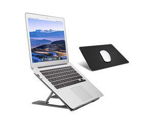 Laptop StandVentilated Portable Ergonomic Notebook Riser for DeskMultiAngle Portable AntiSlip Mount for MacBook Surface Laptop Notebook 1017 Tablet Black+Mouse Mat
