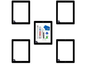 Pack of 5 Digitizer Repair Kit Compatible with iPad 2 Black 97 Inch Touchscreen Front Display Incl Tool kit