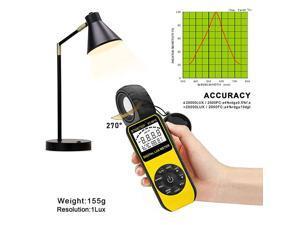 BT881E Digital IlluminanceLight Meter Measure Lights 001~300000 Lux 001~30000 FC Foot Candles Par Meter Luxmeter for Plants Aquarium Light Tester