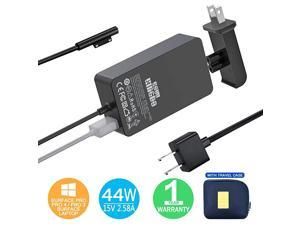 Surface Pro Charger Surface Pro 4 Charger  44W 15V 258A Power Supply Compatible Microsoft Surface Pro 4 Pro 3 Pro 6 Surface Pro Laptop 12 Surface Go Surface Book Include Travel Case