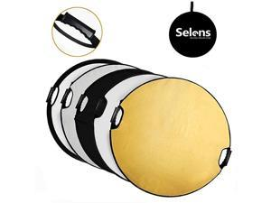 32 in 80cm 5in1 Round Reflector with Handle for Photography Photo Studio Lighting Outdoor Lighting
