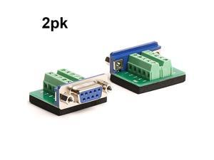 Breakout Board RS232 Serial Female to Terminal Block 10P Adapter 2 Pack